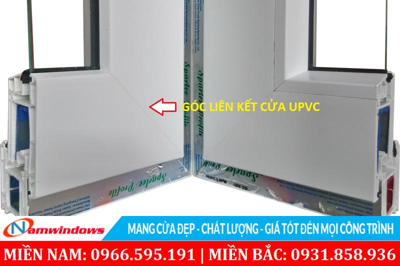 Góc liên kết ở cửa nhựa uPVC
