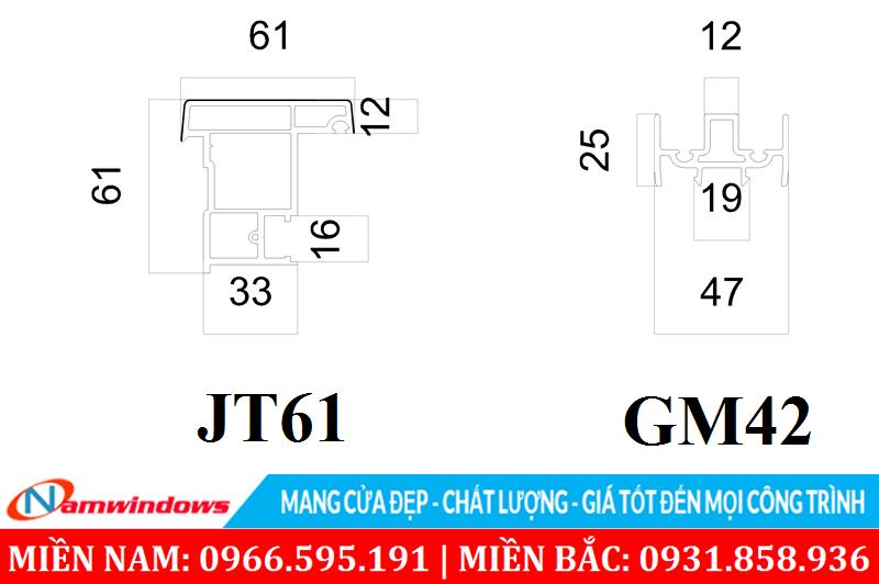 Thanh đố động JT61 và GM42
