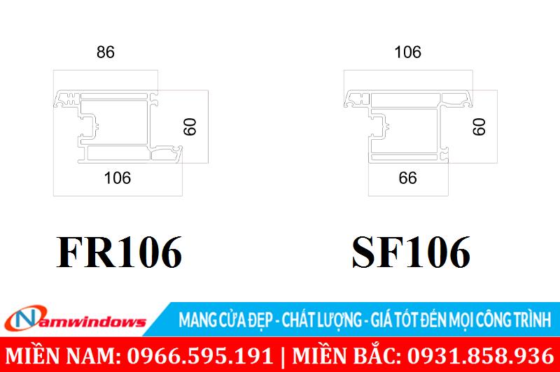 Cánh cửa mở ra SF106 và mở vào FR106