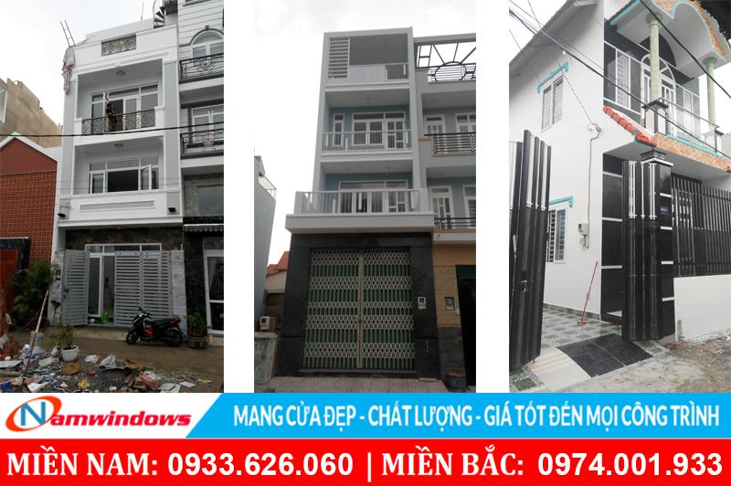 Một số công trình dân dụng tại Hồ Chí Minh sử dụng cửa nhựa lõi thép