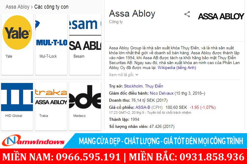 Giới thiệu ASSA ABLOY