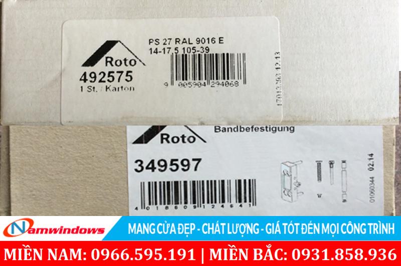 Check mã vạch kiểm tra xuất xứ phụ kiện Roto