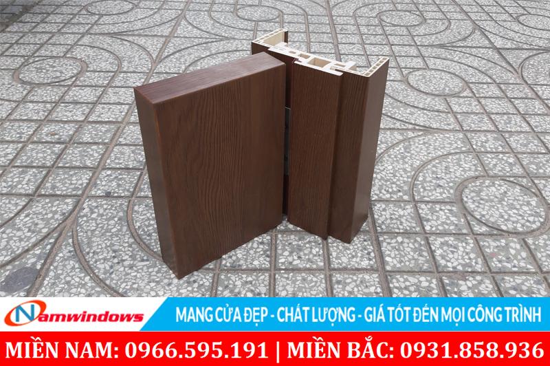 Hình ảnh một góc cửa gỗ nhựa Conposite dùng cho nhà tắm