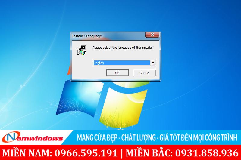 Chọn ngôn ngữ khi bắt đầu cài đặt phần mềm