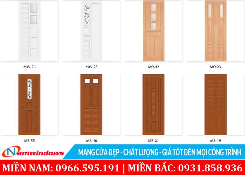Một số mẫu cửa nhựa Đài Loan Y@door
