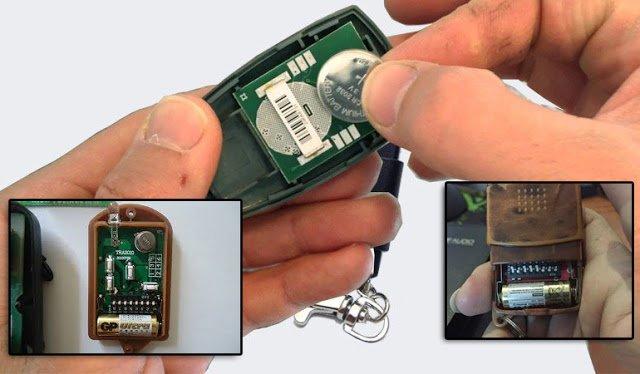 Cách tự thay pin điều khiển cửa cuốn chi tiết