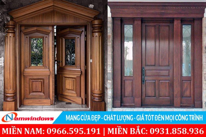 Mẫu cửa kính gỗ đẹp hiện đại