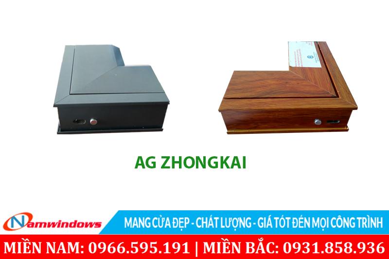 Cửa nhôm giá rẻ AG có cấu trúc hộp và hệ ron cao su kép