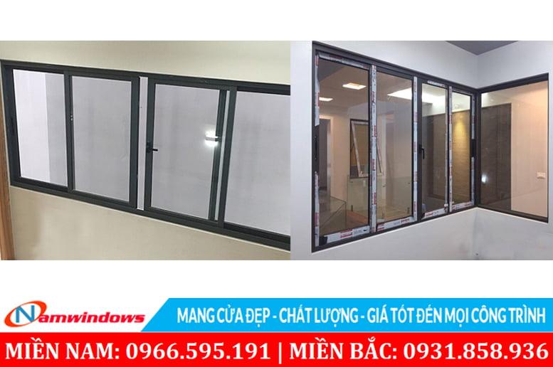 Cửa sổ dạng lùa 4 cánh nhôm Xingfa