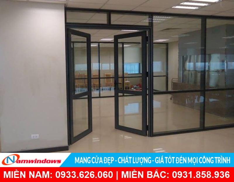 Cửa kính khung nhôm cho văn phòng