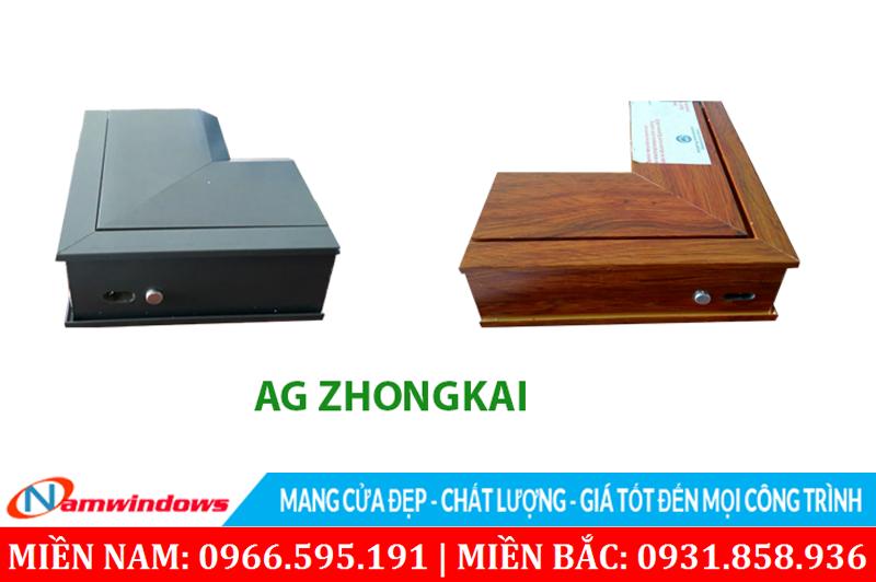 Hình ảnh nhôm và màu sắc của góc mẫu nhôm AG