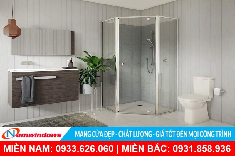 Cabin phòng tắm góc 135 độ
