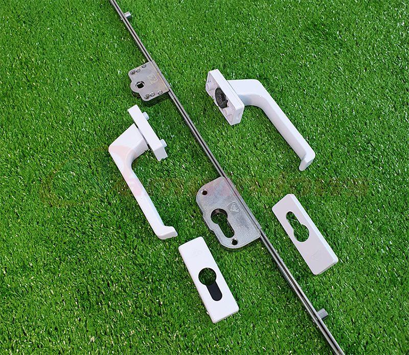 Bộ khóa đa điểm cửa nhựa lõi thép GQ chính hãng ASSA ABLOY