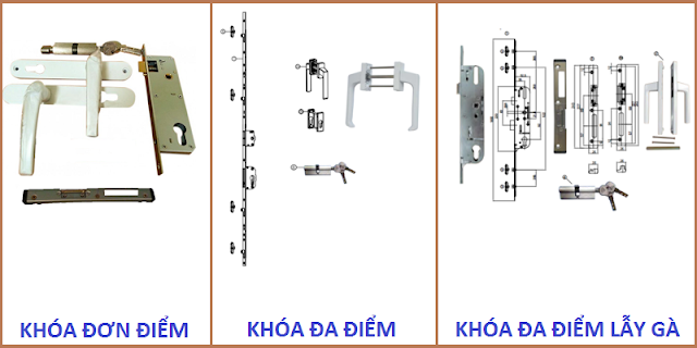 Hình ảnh các loại khóa cửa nhựa lõi thép