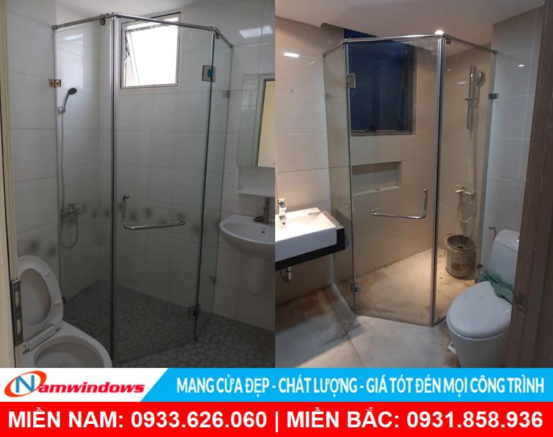 Phòng tắm kính 135 độ đẹp