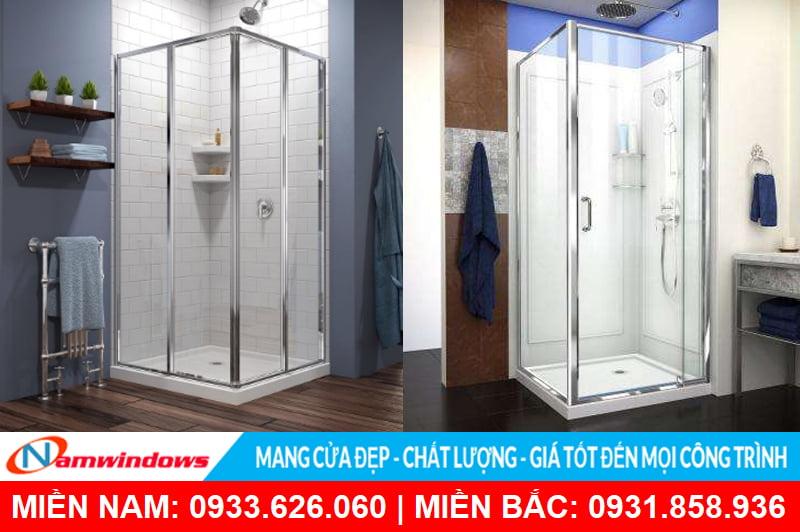 Phòng tắm kính 90 độ hình vuông dạng cabin