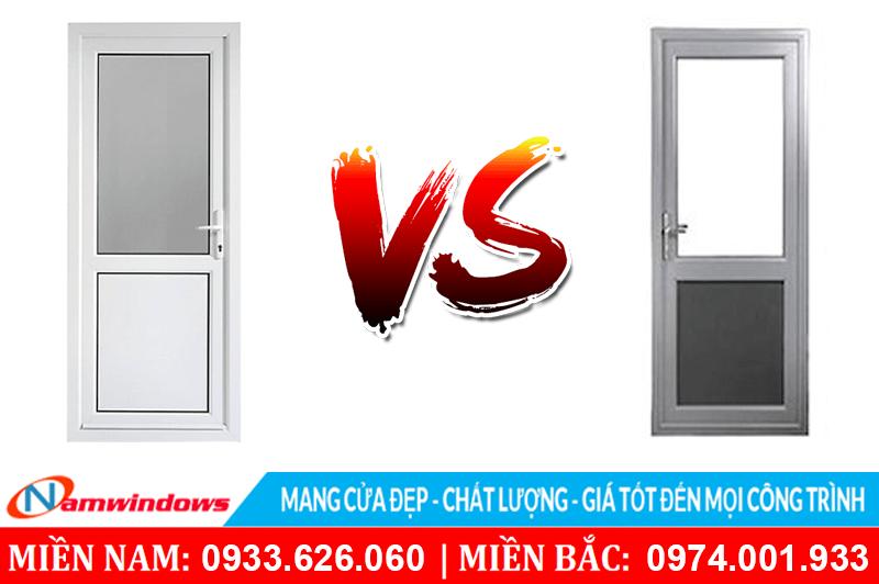 So sánh chất lượng cửa nhựa lõi thép với cửa nhôm