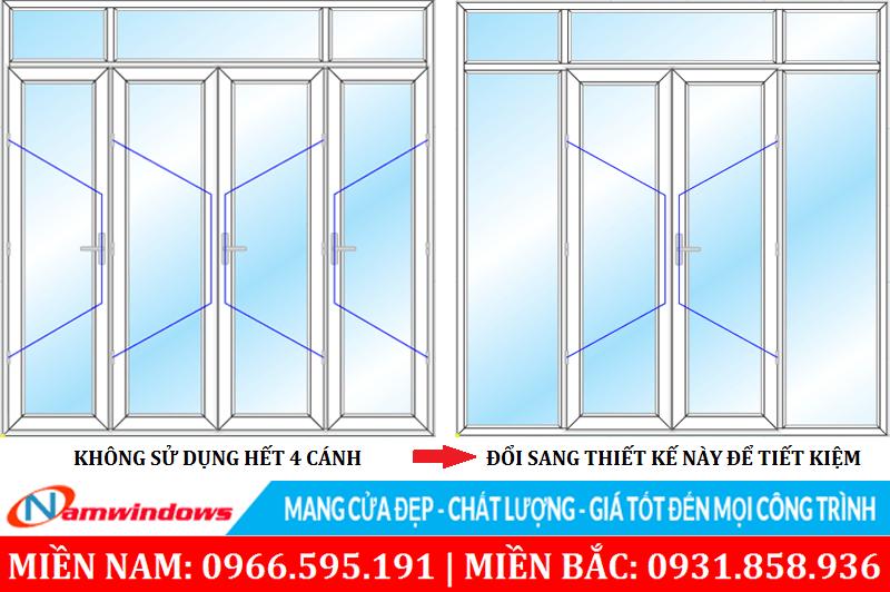 Để tiết kiệm nên chọn cửa sao cho phù hợp với chức năng sử dụng