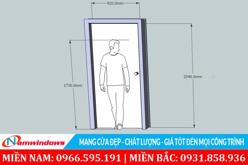 Kích thước cửa phòng ngủ chuẩn sẽ phù hợp cho người sử dụng