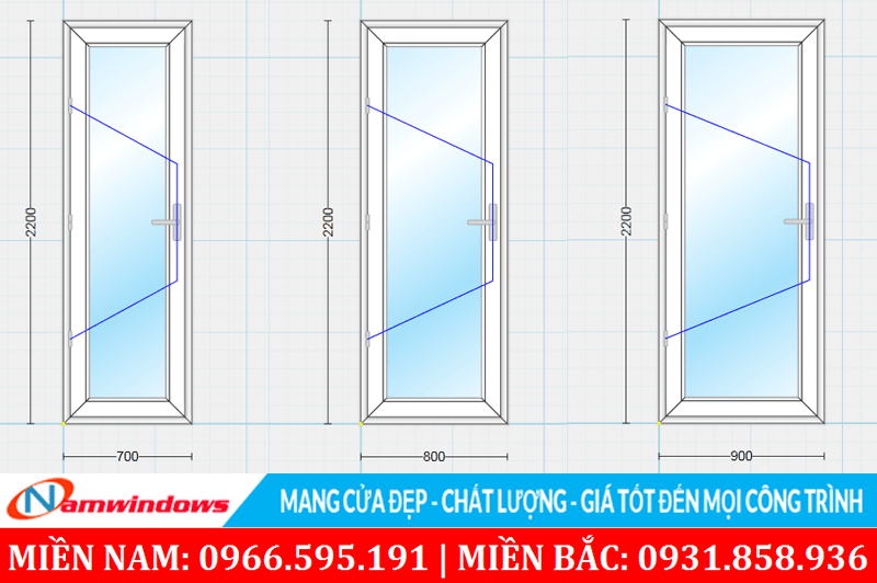 Những kích thước cửa phòng ngủ không phù hợp sẽ mất thẩm mỹ khi nhìn vào