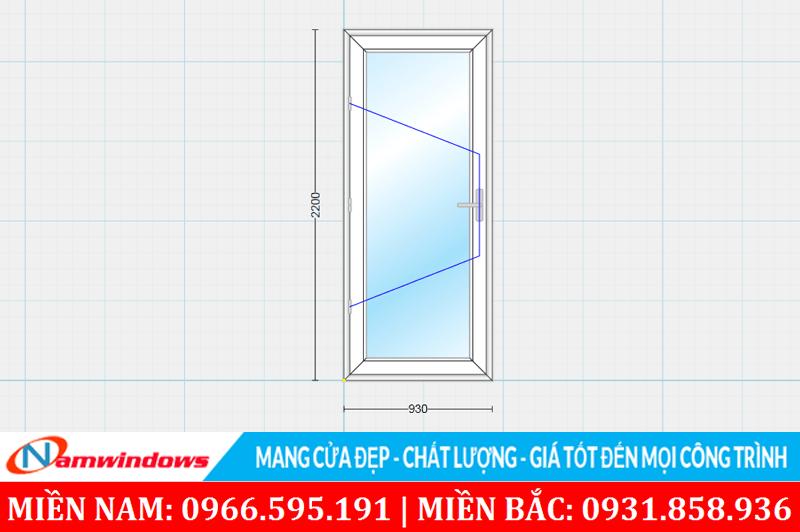 Kích thước cửa phòng ngủ lớn phù hợp và cân