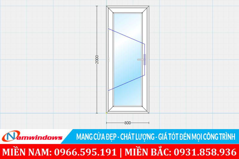 Kích thước cửa phòng ngủ nhỏ phù hợp và cân đối