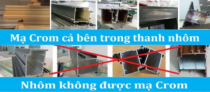 Sự khác nhau giữa nhôm sơn tĩnh điện Xingfa nhập khẩu và hàng Việt Nam