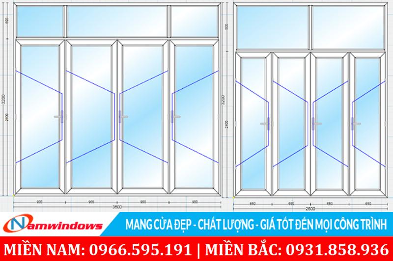 Khi thiết kế cần chú ý đến các kích thước cửa chính cho cân đối