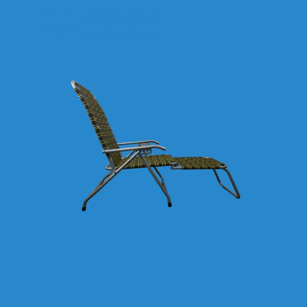 Ghế rút máng khung sắt tròn, lưới sợi dù