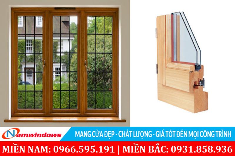 Cửa sổ kính khung gỗ