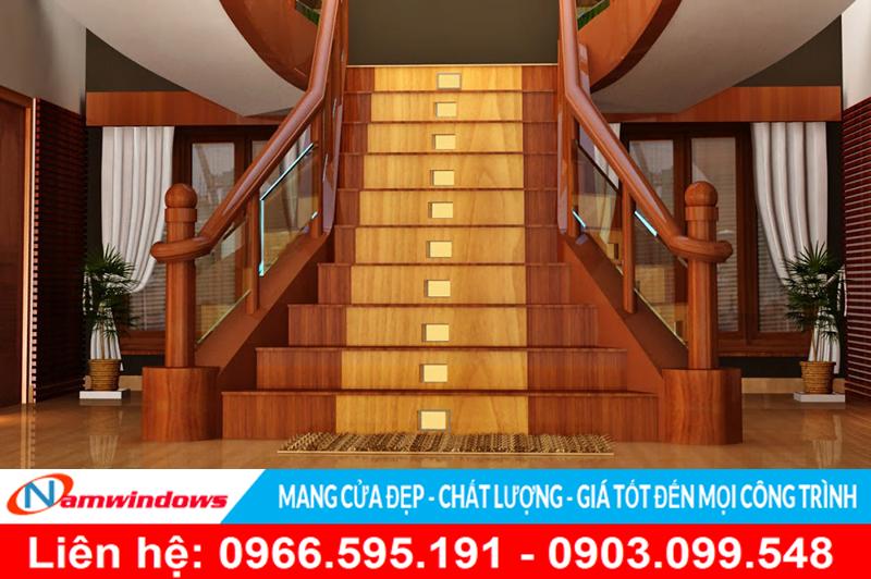 mẫu cầu thang gỗ