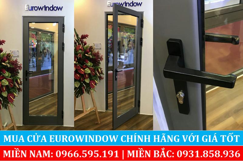 Cửa nhôm Eurowindow loại cửa đi 1 cánh mở ra vào