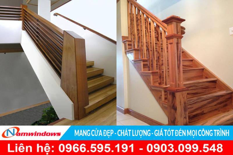 Mẫu cầu thang gỗ đẹp khách cho nhà phố và biệt thự