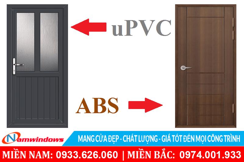 Chất liệu uPVC & ABS dùng làm cho cửa nhà