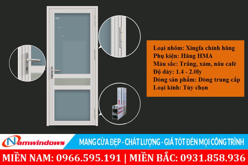 Cửa nhôm Xingfa kết hợp phụ kiện HMA