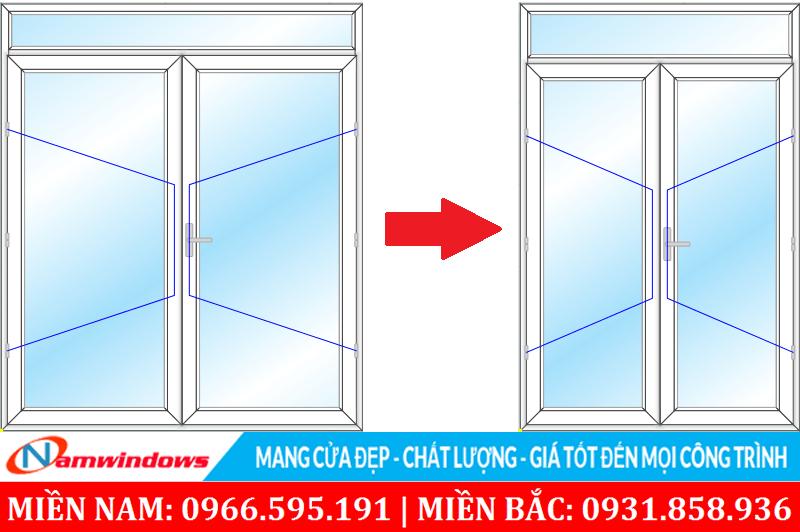 Kích thước cửa chính 2 cánh phải cân đối