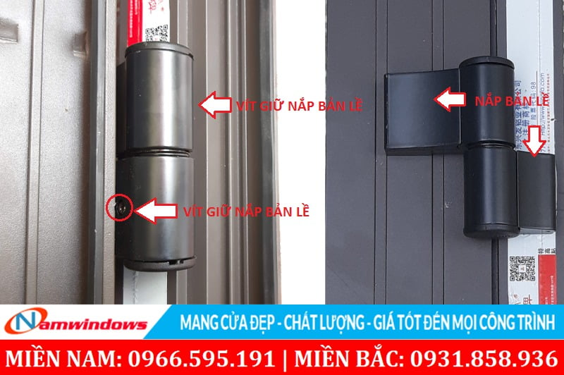 Chú ý an toàn ở nắp bản lề cho cửa nhôm Xingfa
