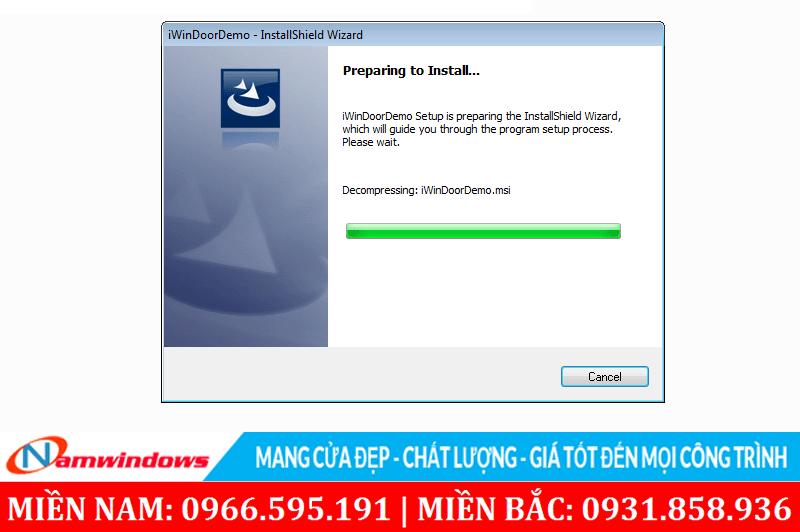 Phần mềm bắt đầu chạy để tiến hành cài đặt