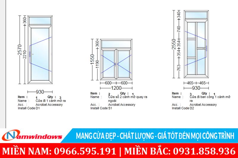 Phần mềm thiết kế cửa nhôm cửa nhựa lõi thép