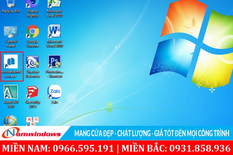 Click vào truy cập vào phần mềm