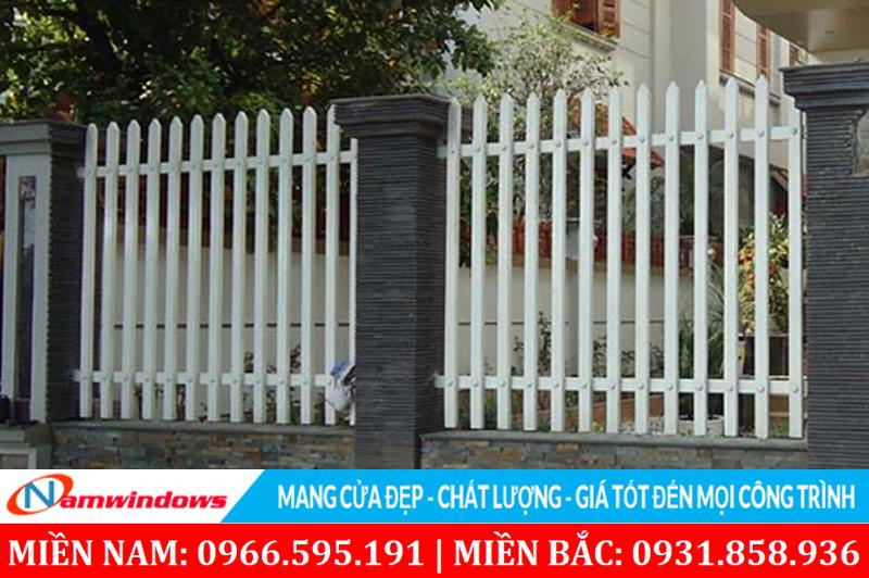 Mẫu hàng rào sử dụng sắt hộp 30x60