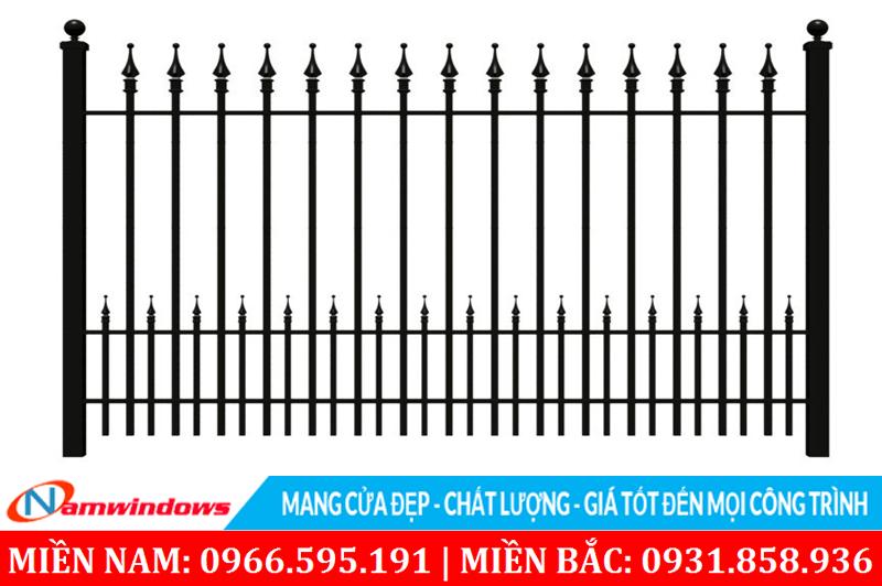 Mẫu hàng rào kèm mũi mác chia đơn giản