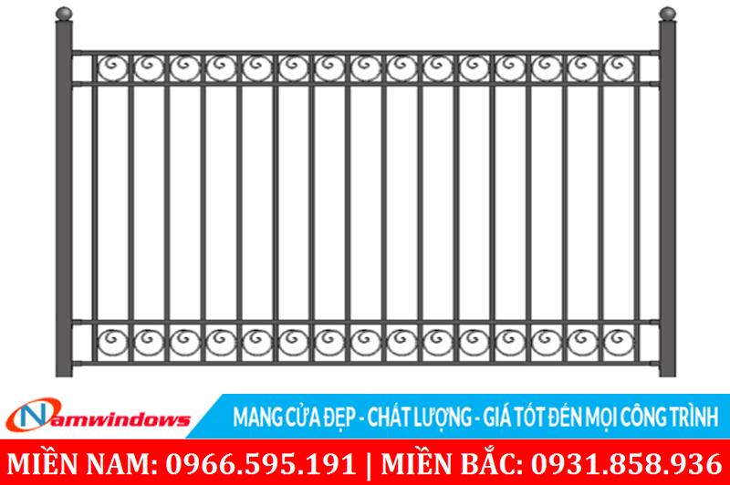 Mẫu hàng rào có hoa văn tròn