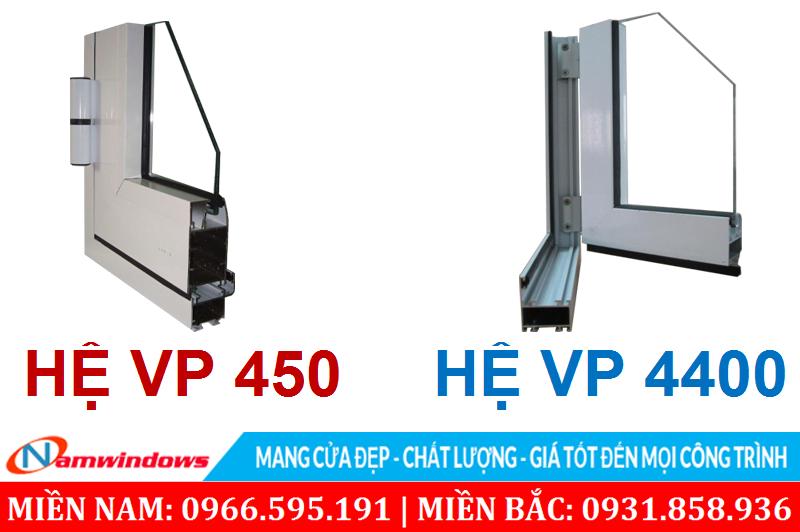 Các hệ nhôm Việt Pháp 450 & 4400