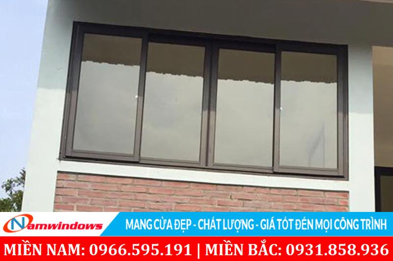 Cửa sổ lùa 4 cánh nhôm Việt Pháp