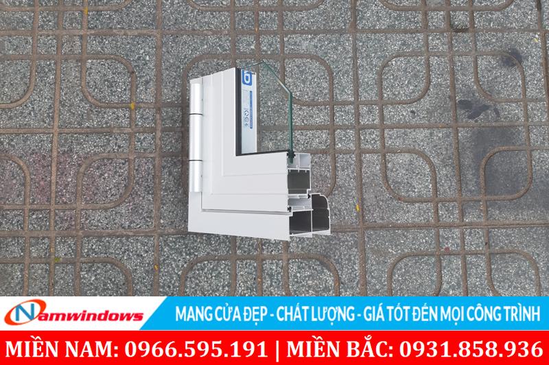 Hình ảnh góc mẫu nhôm Xingfa AD sử dụng khung bao lớn