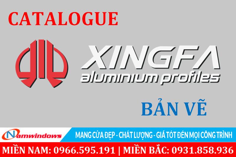 Catalogue, Bản vẽ kỹ thuật, mặt cắt nhôm Xingfa