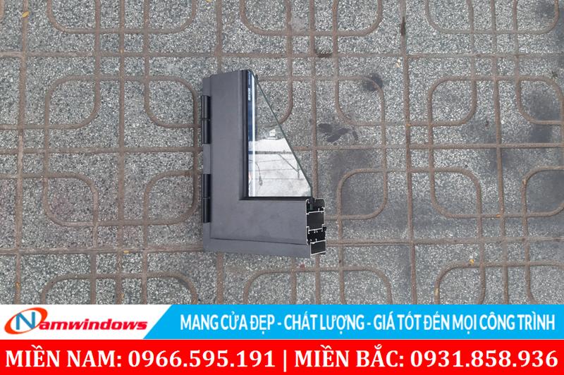 Hình ảnh góc mẫu cửa sổ Topal Prima màu xám