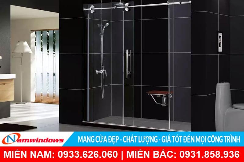 Mẫu cửa kính lùa phổ biến cho phòng tắm