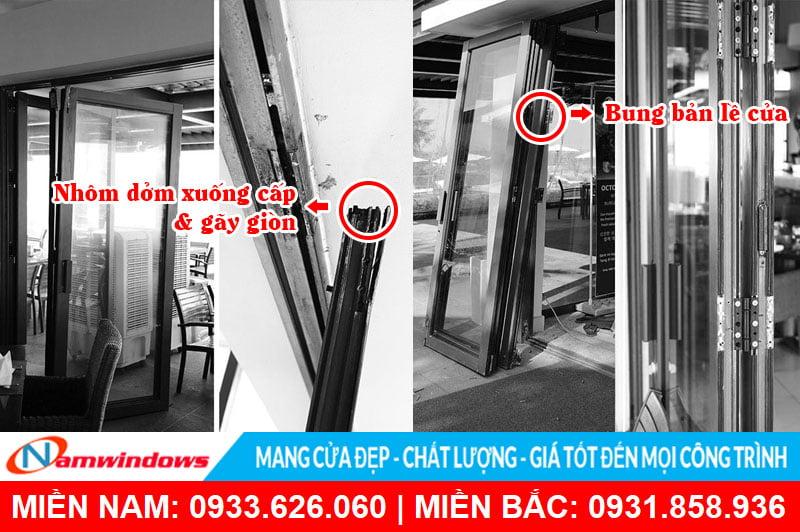 Tác hại của việc sử dụng nhôm và phụ kiện cửa nhôm kém chất lượng